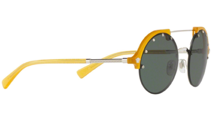 8238a8b0bd6b Versace Yellow / Green Medusa Round Sunglasses (VE 4337 5252/71) - Ships