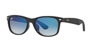 Ray-Ban Black Blue Gradient Wayfarer Sunglasses (RB2132F 62423F 55-18) - Ships Same/Next Day!