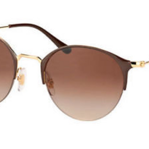 Ray-Ban Brown Gold Metal Brown Gradient Lens Sunglasses (RB3578 900913 50MM) - Ships Same/Next Day!