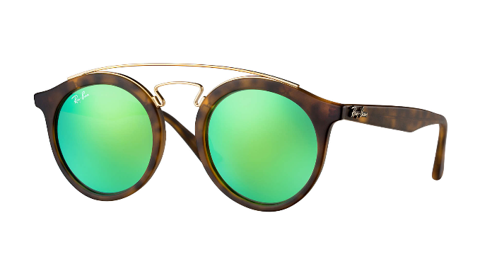Ray-Ban Tortoise / Green Mirror  Gatsby Sunglasses (RB4256 60923R 49mm) - Ships Same/Next Day!