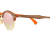 Ray-Ban Clubround  Brown/Copper Flash Lens Wood Sunglasses (RB4246M 12187O 51MM) - Ships Same/Next Day!