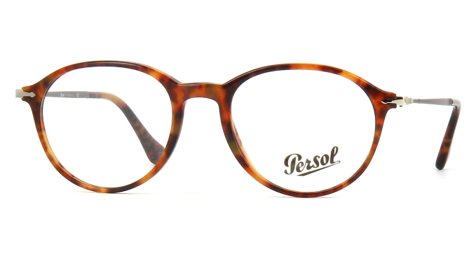 Persol CAFFE Light Havana/Silver RX Eyeglasses (PO3125V 108 51MM)