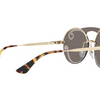 PRADA Pale Gold/Gold Mirrored Lens Sunglasses (SPR 65T ZVN-ODW - 36MM) - Ships Same/Next Day!