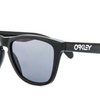 Oakley Polished Black Frame Grey Lens Frogskins Sunglasses (OO9013 24-306) - Ships Same/Next Day!