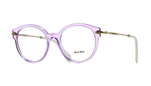 MIU MIU Transparent Lilac Frame RX Eyeglasses ( VMU 04P U69-1O1 50MM) - Ships Same/Next Day!