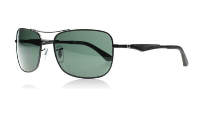 Ray-Ban Men's Sunglasses  - Choice of Gunmetal Black/Gray Lens or Gunmetal Black/Green Lens - Ships Same/Next Day! (RB3515 006/9A 58MM/RB3516 006/9A 59mm)