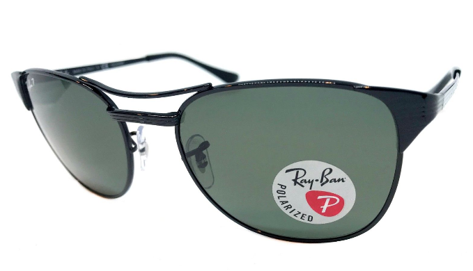 Ray-Ban Signet Black / Grey Polarized Sunglasses (RB3429M 002/58 55MM) - Ships Same/Next Day!