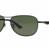 RAY-BAN Matte Black / Grey Green Polarized Sunglasses (RB3519 006/9A 59mm) - Ships Same/Next Day!