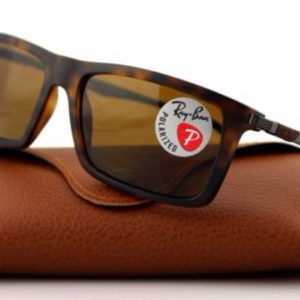 Ray-Ban Matte Havana Plastic Sunglasses W/ Brown Polarized Lens (RB4214 609283)