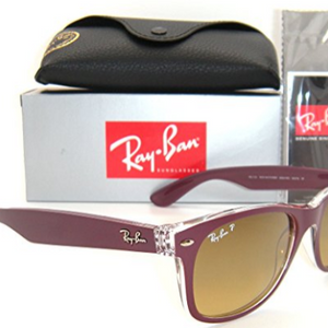 Ray-Ban New Wayfarer Bordeaux / Brown Gradient Sunglasses ( RB 2132 6054/m2 55mm )- Ships Same/Next Day !