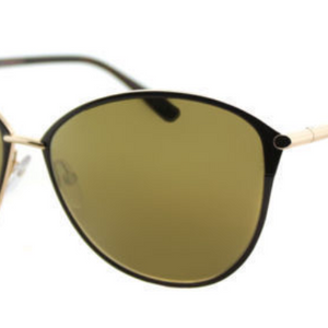 Tom Ford Penelope Brown Rose Gold/ Gold Mirror Lens Sunglasses  (TF0320 28G) - Ships Same/Next Day!