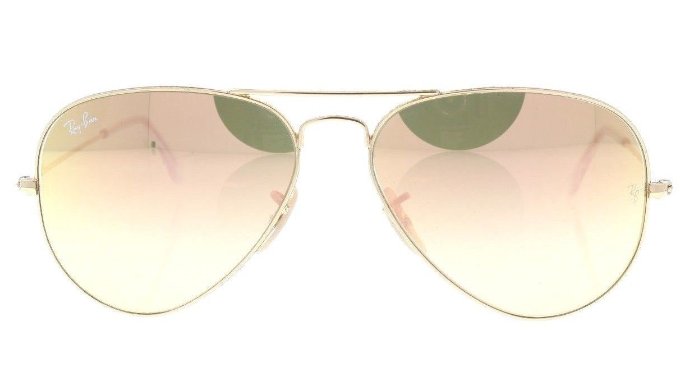 Ray-Ban Polished Gold / Gold Flash Mirrored Sunglasses (RB3025 001/7O) - Ships Same/Next Day!
