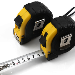 2 PACK: Steel/Rubber Retractable Tape Measure - Ships Out Next Day! (7.5M X 25FT)