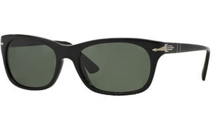 Persol Black Grey / Green Crystal Sunglasses (PO3099S 95/31 56mm) - Ships Same/Next Day!
