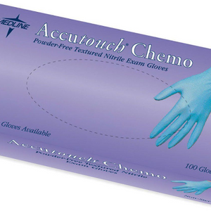 2 Pack: Medline Accutouch Powder-Free Latex-Free Nitrile Exam Gloves, Blue, 100 count - Size Medium Or Large - Ships Same Next Day!