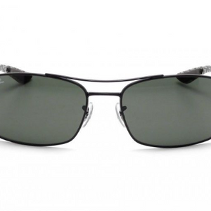 Ray-Ban Black/Green Carbon Fiber Sunglasses - Ships Same/Next Day! (RB8316-002 62mm)