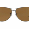 Ray-Ban Matte Gunmetal / Brown Polarized Sunglasses (RB3519 029/83 59MM) - Ships Same/Next Day!