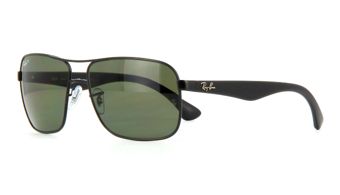 ac75df6467 Ray-Ban Highstreet Black   Green Polarized Sunglasses (RB3516 006 9A 59MM)