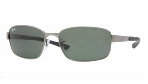 Ray-Ban  Pewter Green G-15 Sunglasses (RB3413 004 59mm) - Ships Same/Next Day!