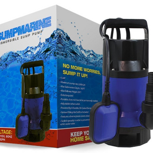 SumpMarine 1/2HP Clean/Dirty Water Submersible Pump - #6 Most Popular on Amazon - Ships Same/Next Day!