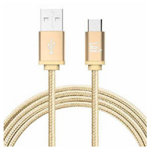4 Pack: Durable Nylon Braided Tangle Free Micro USB Android Charging Cables (10Ft Length) - Choice of 4 Colors - Ships Same/Next Day!
