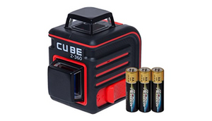 AdirPro Cube 2-360 Horizontal and Vertical Cross Line Laser with Accessories, Red/Black - Ships Same/Next Day!