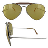 Ray-Ban Outdoorsman II Silver / Yellow Ambermatic Sunglasses (RB3029 003/4A) - Ships Same/Next Day!