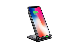 LAX Fast Qi Wireless Charger Phone Stand - Great for Face ID on iPhone X - Ships Same/Next Day!