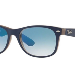 Ray-Ban Matte Blue Opal / Blue Gradient Sunglasses (RB2132 6308/3F 55MM) - Ships Same/Next Day!