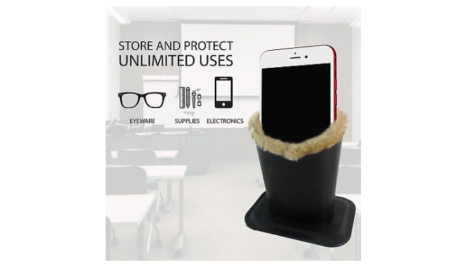 2 PACK: Upright Eyeglasses Holder With Soft Plush Lining - Ships Same/Next Day!