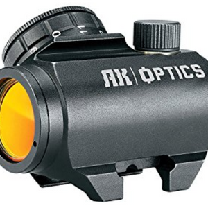 Bushnell AK Optics AK25 1x25mm Red Dot Sight, Matte Black (tilted front lens) - Ships Same/Next Day!