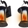 2 Pack: EcoThink 155034 Solar LED Flame Lantern - Ships Same/Next Day!