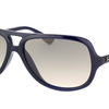 Ray-Ban Dark Blue / Grey Plastic Aviator Sunglasses (RB4162 629/32) - Ships Same/Next Day!