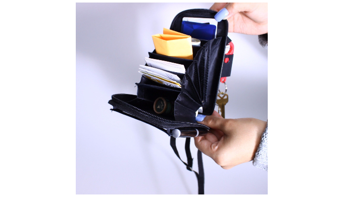 All In 1 Cellphone Caddy With Multi Pockets Phone & Wallet Organizer - Ships Same/Next Day!