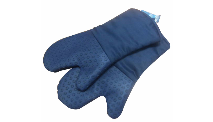 Set Of 2: Silicone Heat Resistant Mittens For Indoor and Outdoor Cooking/Grill - Ships Same/Next Day!