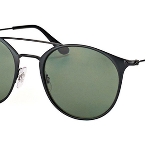 Ray-Ban Matte Black Metal / Green Polarized Sunglasses (RB3546 186/9A) - Ships Same/Next Day!