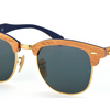 Ray-Ban Cherry Wood Brown / Blue Sunglasses (RB3016M 1180/R5 51MM) Ships Same/Next Day!