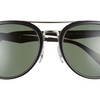 Ray-Ban Black / Green Polarized Double Bridge Sunglasses (RB4285 601/9A 55MM) - Ships Same/Next Day!