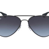 Ray-Ban Black Metal / Grey Gradient Aviators Sunglasses - (RB3558 002/8G 58MM) - Ships Same/Next Day!