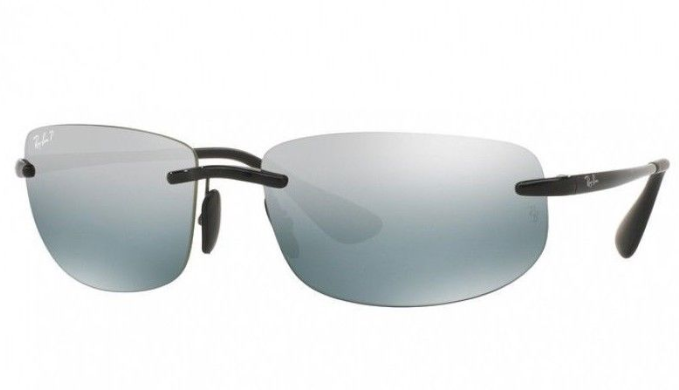 Ray-Ban Polarized Chromance Shiny Black / Silver Mirror Sunglasses - (RB4254 601/5L 62MM )