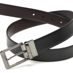 "Perry Ellis Iron Man or Amigo Reversible Leather Belt - Buy 2 and save $10 w/ code ""PerryBelt10""!"