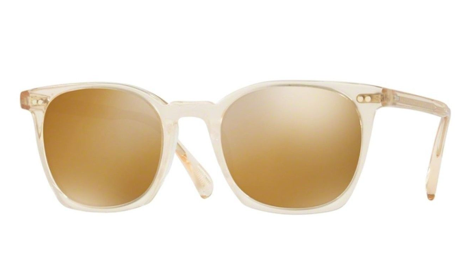 Oliver Peoples L.A. COEN Buff / Amber Goldtone Sunglasses (OV5297SU 1094/W4) -Ships Same/Next Day!
