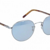 Oliver Peoples HASSETT Brushed Silver/ Blue Goldtone Sunglasses (OV1203S 5036/Y5) - Ships Same/Next Day!
