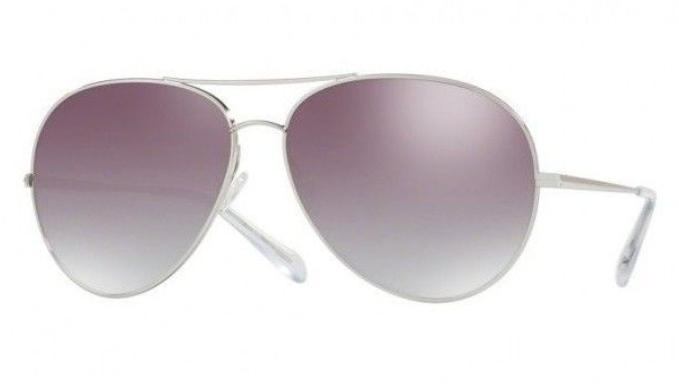 Oliver PeoplesSayer Silver / Silver Flash Mirror Sunglasses (OV1201S 5036/6I) - Ships Same/Next Day!