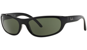 Ray-Ban Matte Black/Polarized Green Classic G-15 Sunglasses (RB4033 601S48)  - Ships Same/Next Day!
