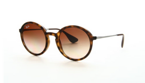 Ray-Ban Tortoise Frame/Brown Gradient Sunglasses (RB4222 865/13 50mm) - Ships Same/Next Day!