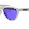 Oakley Frogskins Matte White w/Violet Irid Sunglasses (OO9245-17) - Ships Same/Next Day!