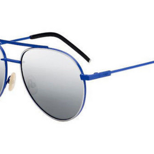 Fendi AIR  Blue / Silver Mirror Aviators Sunglasses (FF 0222/S PJP/T4) - Ships Same/Next Day!