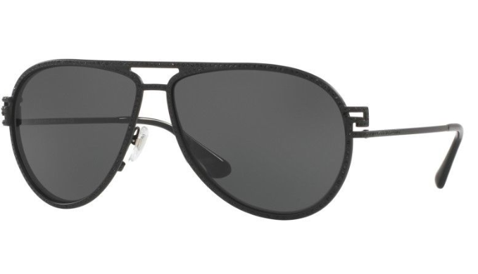 Versace Aviator Sunglasses - Choice of Matte Black / Gray or Green Glitter / Gray Gradient - Ships Same/Next Day!