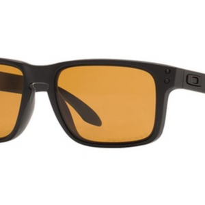 Oakley Holbrook Unisex Sunglasses with Matte Black Frame and Bronze Polarized Lenses - Ships Same/Next Day!